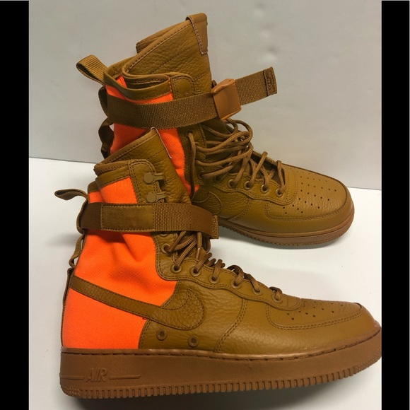 "Nike SF AF1 Air Force 1 QS ""Desert"" Tan Orange NWT"